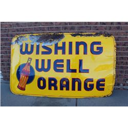 "Wishing Well Orange Soda Tin Sign (59""x35"")"