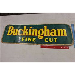 "Bucking Ham Fine Cut Sign (35""x11"")"