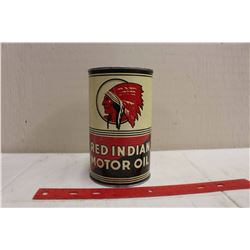 Red Indian Quart Oil Can