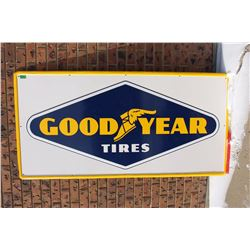 Goodyear Tires Embossed Tin Sign, Original Condition