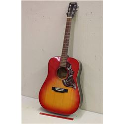 Mann Acoustic Guitar With Hummingbird Design