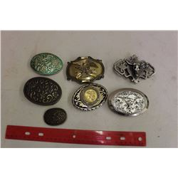 Lot Of Belt Buckles