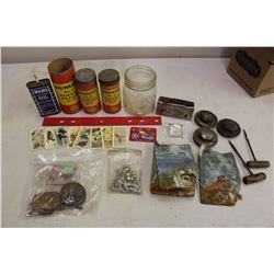 Lot of Vintage Misc(Dunlop Rubber Repair Kits, Red Rose&Blue Ribbon Cards,Etc)