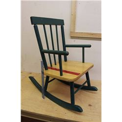 "Small Wooden Rocking Chair (23""x23""x13"")"