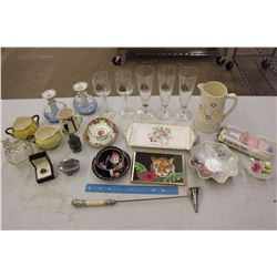 Lot of Vintage Glassware (Royal Canadian Mounted Police Glasses, Etc)