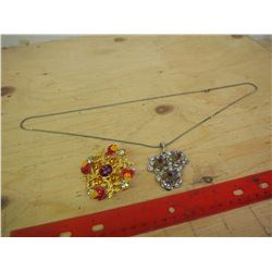 Glitzy Necklace And Brooch (Can be worn as a pendant also)