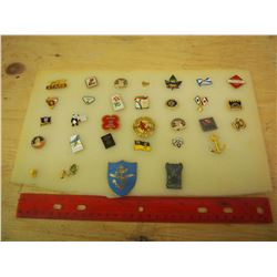 Lapel Pin Collection (31 Pieces) (Harley, Stars, Legions Misc.)