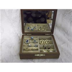 Jewel Box With Rings And Earrings