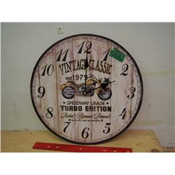 Vintage Classic Motorcycles Clock