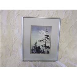 Sue Coleman Watercolour Print, The Moon, Signed