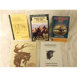 Cowboy Related Books (5) (Stories, Tales, Poetry)