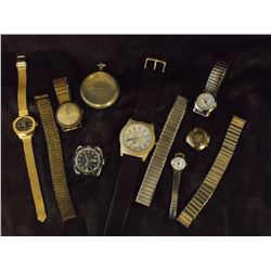Watches (7) And Misc. (Cardinal, Red Herring, Longreene, Etc, Some Working)