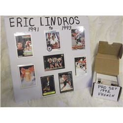 Eric Lindros Hockey Cards (1991-1993) W/ 1992 Pro Set French Edition