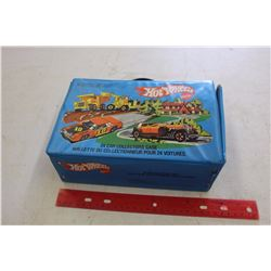Hot Wheels Collection Case w/1970s-80s Hot Wheels