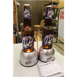 Miller Lite Bubbler Lights (2)(One Needs Repairs)
