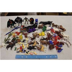 Lot of Children Toys (Miniature Figurines, Animals, Etc)