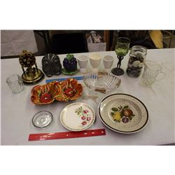 Lot Of Misc. Dishware, Clocks, Etc
