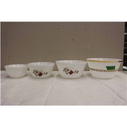 Lot Of Federal Glass Mixing Bowls