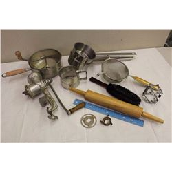 Lot Of Vintage Kitchen Utensils