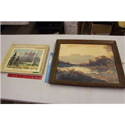 Pair of Vintage Framed Pictures