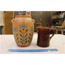 Medalta Cookie Jar And Pitcher