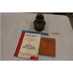 Pair Of Manuals W/ Brass Lamp Base