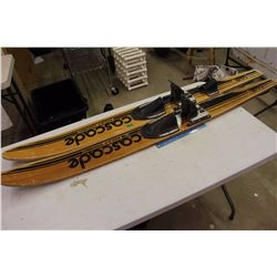 1970's Wooden Water Skis