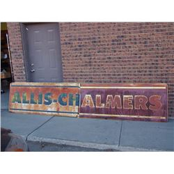 "2 Part Allis Chalmers Metal Sign (Each Part is 30"" x71"")"