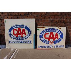 "Pair Of DS CAA Signs (24""x18"" And 24""x24"")"