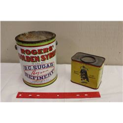 Black Donald Flake Graphite Tin W/ Rogers Syrup Tin