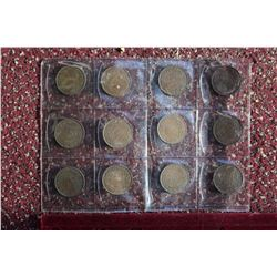 Lot Of Large Canadian One Cent Pieces From 1914 (12)