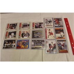Lot of 15 Gordie Howe Hockey Cards