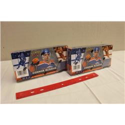 Lot of 2 Sealed, 2015-16 Connor McDavid Upper Deck Collections, 25 Tribute Cards in each collection.