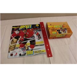 Box of 1988 O-Pee-Chee NHL Hockey Yearbook Stickers & Yearbook Sticker Album