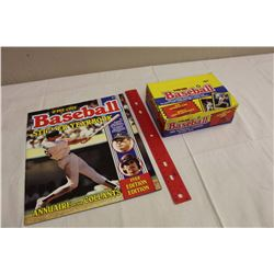 Box of 1988 O-Pee-Chee Baseball Yearbook Stickers & Yearbook Sticker Album