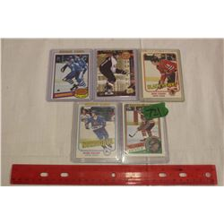 Lot of 5 NHL Rookie Cards: Denis Savard, Peter Stastny, Pat Verbeek, Michel Goulet & Jeff Carter
