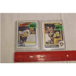 Mario Lemieux 2nd & 4th Year Hockey Cards: #122, 1986-87 O-Pee-Chee & #1, 1988-89 O-Pee-Chee