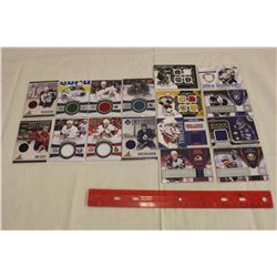 Lot of 18 NHL Game Jersey Cards