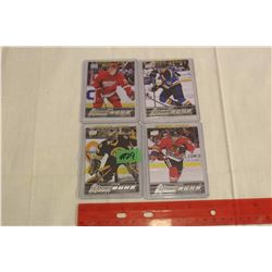 Lot of 4 NHL Rookie Cards: Dylan Larkin, Malcolm Subban, Robby Fabbri & Artemi Panarin; all Young Gu
