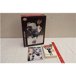 Wayne Gretzky – Post Honeycomb Cereal Box, #1, 1994-95 Upper Deck Over Sized Card & Gretzky Autobiog