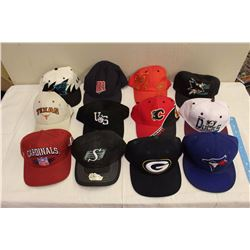 Lot of 12 Sports Caps