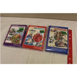 Lot of 3 Intellivision Video Game Cartridges