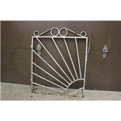 "Metal Architectural Garden Gate (38""x31"")"