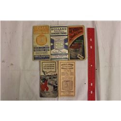 Holland And Playmouth Binder Twine Pamphlets (5)