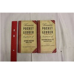 Pair Of John Deere Pocket Ledgers