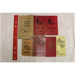 Lot Of Farm Note Books (7)