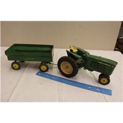 Pair Of John Deere Metal Toys (4010 JD, W/ Trailer)