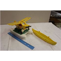 Fisherprice Airplane W/ Boat And Tonka Kayak