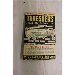 Minneapolis Moline Threshers Brochure