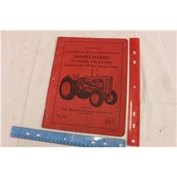 Massey Harris 55 Diesel Tractor Manual